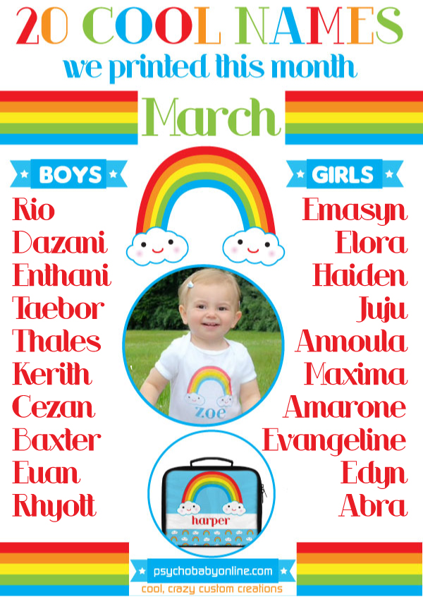 The 20 Coolest Baby Names Of March Are Honestly Some Most Unique We Ve Ever Seen What Do You Guys Think Here A Few Things Noticed This Month